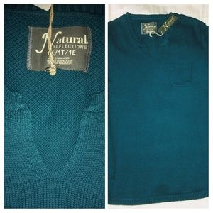 Natural Reflections Notch-Neck Sweater Size 1X